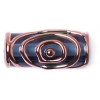 Glass Lamp Bead 20/8mm Roller Transparent Montana/Bronze